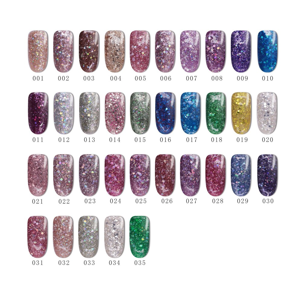New Nails Supplies Caixuancosmetics Glitter Diamond Gel 35 Colors ...