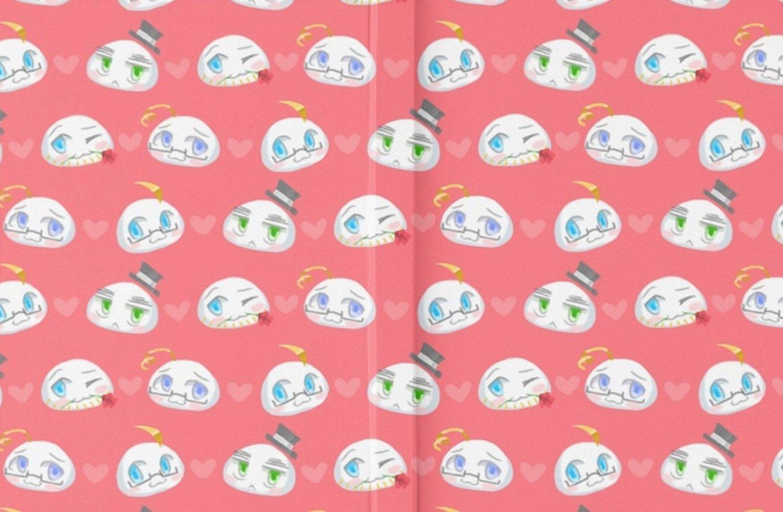 SRBH0045 Hetalia Mochi! Anime Hardcover Journals Notebooks Record Books (graph)