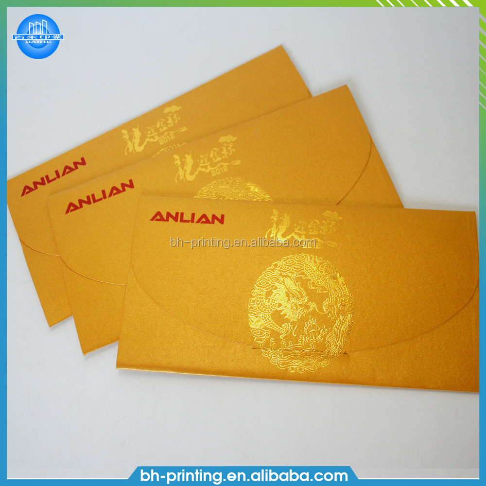 Wholesale blank greeting cards and fancy paper gold envelope