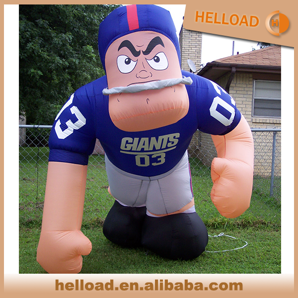 hot sale air blower nfl inflatable bubba player lawn figure with custom color