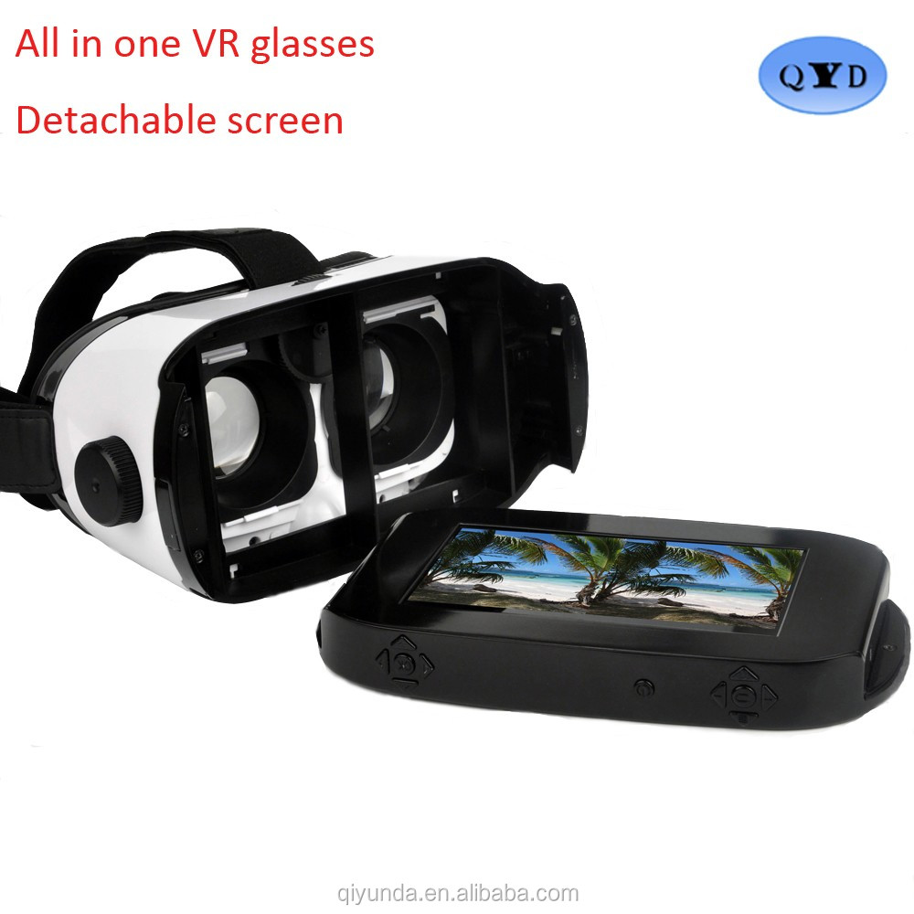 Detachable all in one vr glasses as a good christmas gift for kids to see free 3D movies online