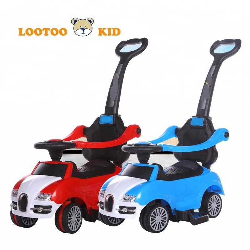 China factory hot sale cheap price dry cell light music plastic children toy car <strong>slide</strong>