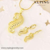 61365 xuping jewellery display popular women fine gold jewelry set