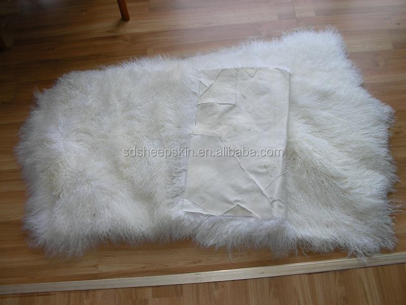 Tibetan Lamb Rug Goat Skin Blanket Long Hair Goat Fur