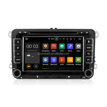 7Inch Android5.1.1 Quad-core Car GPS DVD Player For VW Touran Caddy DU7048