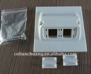 network angled face plate for cat5e and cat6 keystone jack