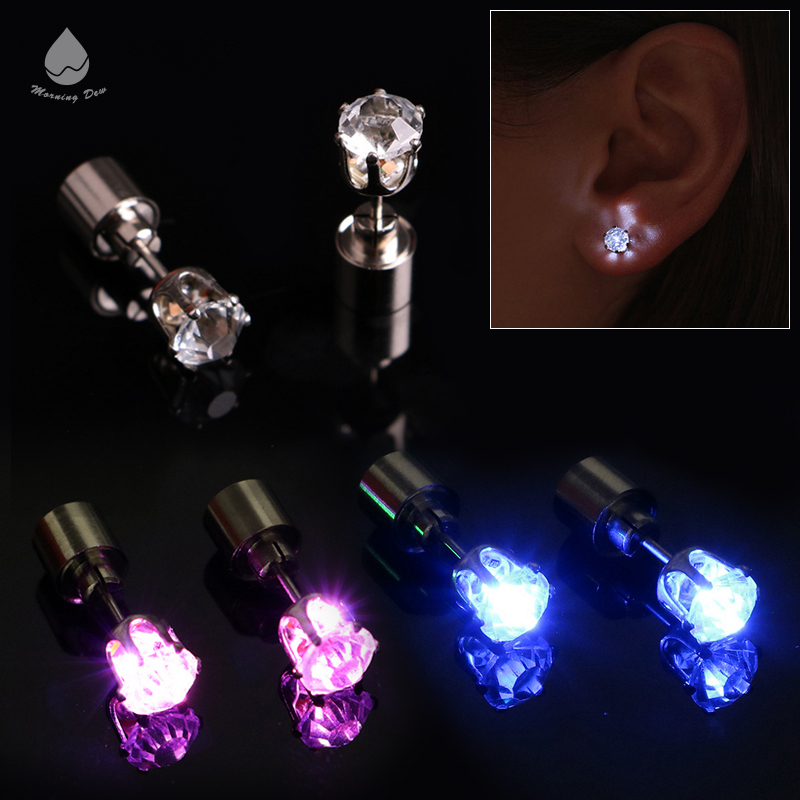 Party Products Ladies and Gentleman Light Up Flashing LED Earings