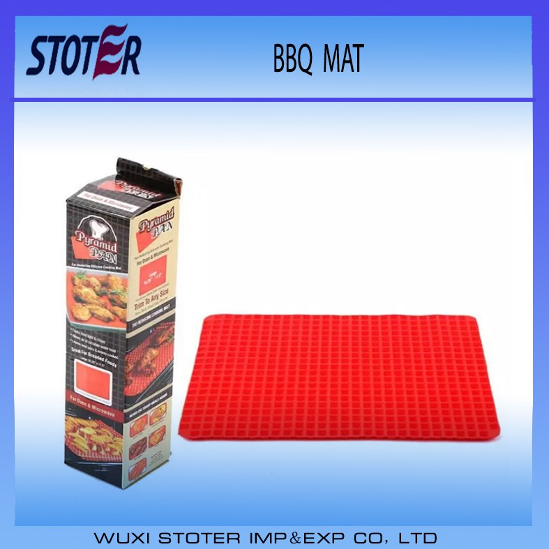 Toprank Food Grade Pyramid Pan Baking Sheet Pastry Cooking Mat Non-stick Silicone BBQ Grill Mat