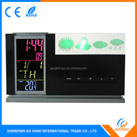 Home Deco Electronic Table Alarm Calendar 3D Crystal Weather Station Clock