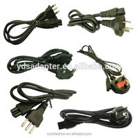 china manufacturer wholesale 10A 16A 250V 220v power cords for laptops EU/AU/UK/US plug power supply cord