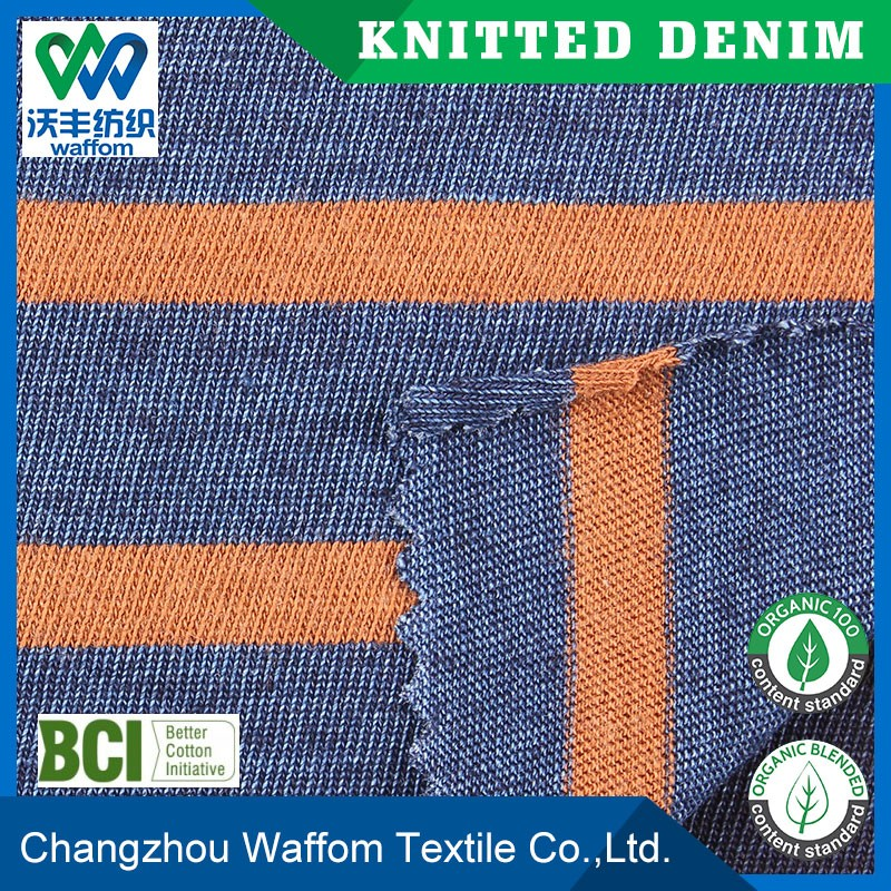 active yarn knit jersey denim fabric bulk from china mamufacturer
