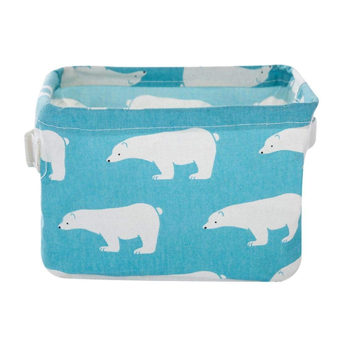 Storage Basket, Yezijin Foldable 6 Colors Storage Bin Closet Toy Box Container Organizer Fabric Basket (A)