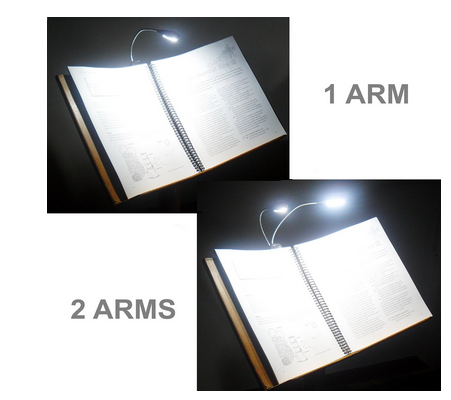 Easy Clip LED Portable Rechargeable Book Light Headboard Various Styles Reading Light