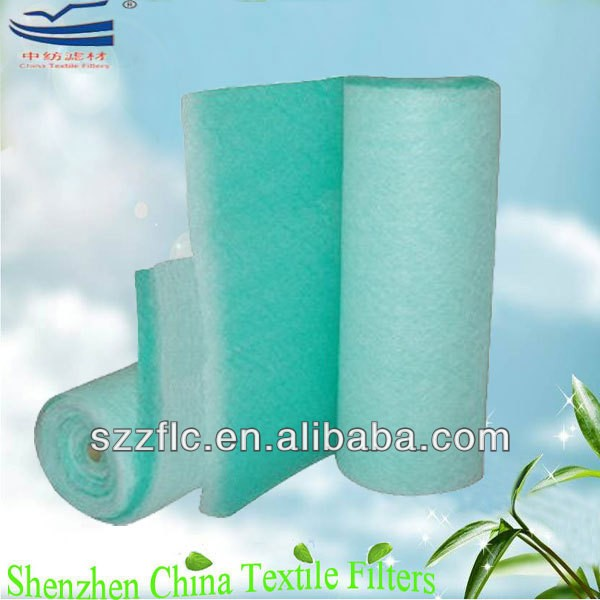 China Supplier Fiberglass sponge air filter green and white color