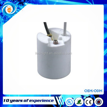 High Quality Ceramic E12 Lamp holder With Support lamp socket Procelain E12 lamp base
