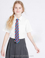International cotton blouse primary school uniform designs white polo shirt for students