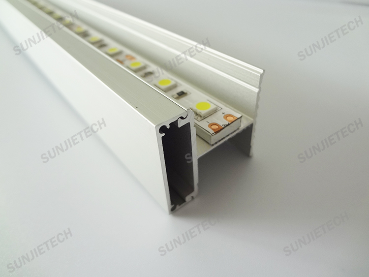 Up Down Two Pc Cover Diffuers Led Aluminum Profile For Led Strips Wall Lighting