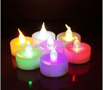 Remote Control Christmas Candle Happy Birthday Multi Color Flameless Tea Lights With Timer