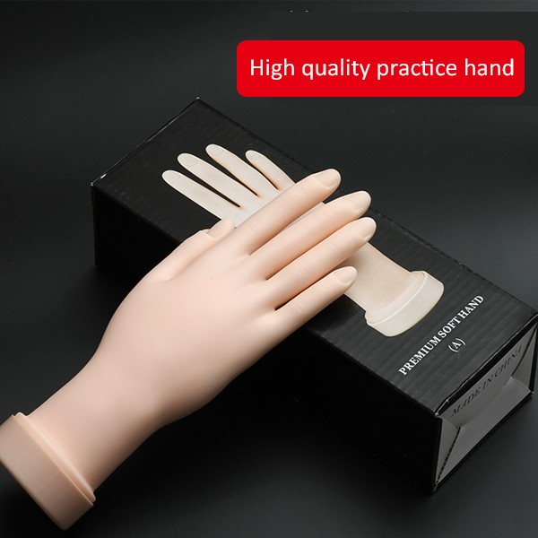 Hand Model For Nails Acrylic Nails Practice Soft Hand - Buy Hand ...