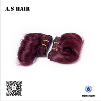 Favourable Synthetic Fiber Material Wavy Hair Short Curly Hair with Red Color for Cosplay