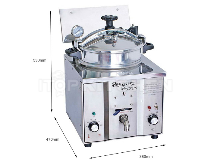MDXZ-16 Table top pressure fryer