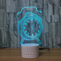 Zogift 2019 Newest Cool Alarm Clock Lamp 7 Color Changing LED 3D NightLight Building Light For Bedroom Promotional Gifts
