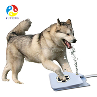 Outdoor Water Fountain for Dogs, Dog Water Drinking Fountain with Garden Hose Connect automatic large dog fountain