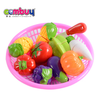 Wholesale kids play funny set kitchen fruits cutting vegetables toy