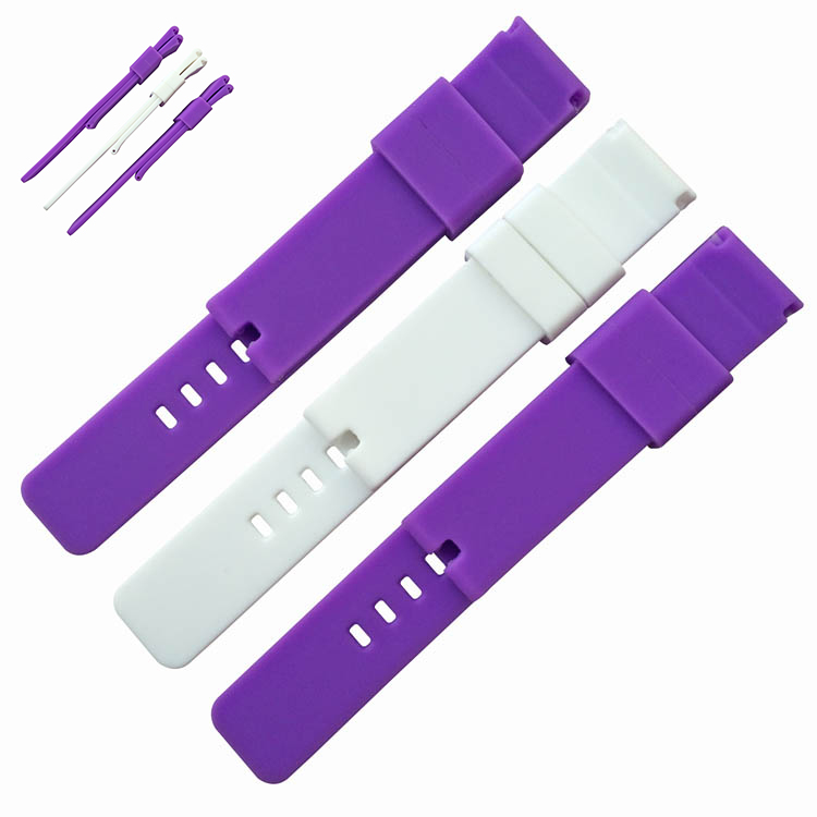 charm type luxury silicone wrist watch band for android smartphone