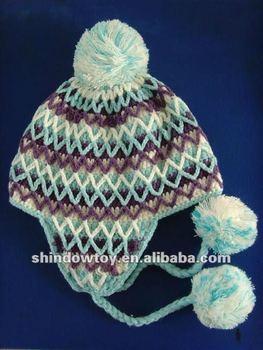 Knitted Earmuff Hat Pattern - Buy Jacquard Earmuff Knitted Hat,Fashion Cap Kn...