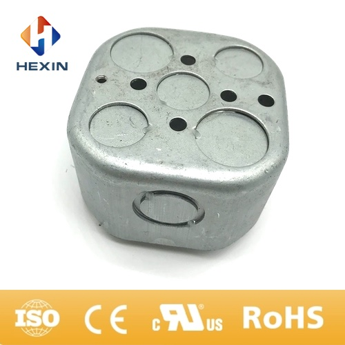 electrical galvanized steel octagon junction box metal outlet box conduit box
