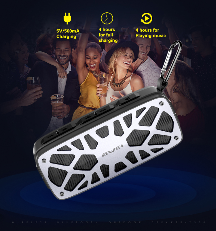 2018 AWEI NewStyles 6W Black Rechargeable bluetooth speaker light