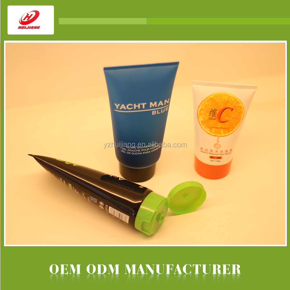 OEM Customized Empty Faces Cosmetic Plastic Tube Packaging