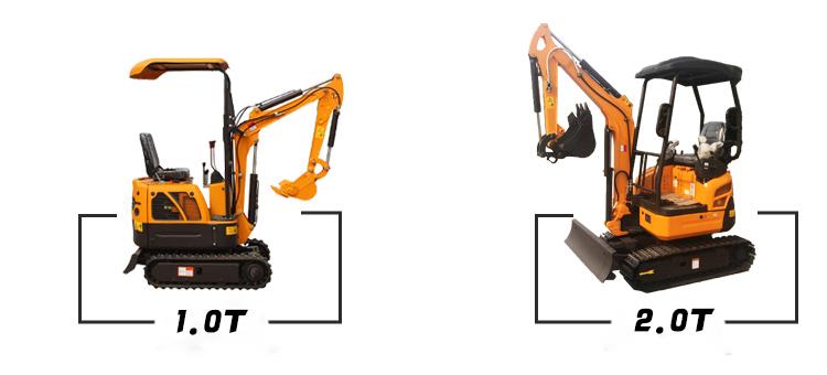 0.8ton 1.2ton 1.5ton 1.8ton Mini Diesel Excavator Price List