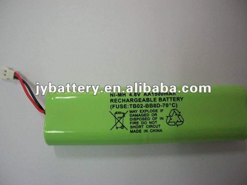 Hi-temp Ni-mh Aa 1500 Mah 4.8v Rechargeable Battery Pack