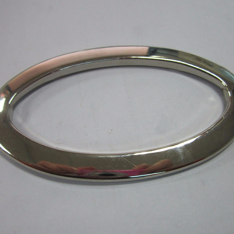 Leather handbag handle zinc alloy strap buckle metal Oval shape O ring buckle for wholesale