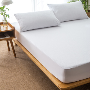 Amazon hot sell Waterproof mattress cover,cotton or polyester terry fabric with TPU waterproof mattress protector