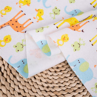 Printing designs 40*42 100% cotton fleece flannel fabric for baby blanket