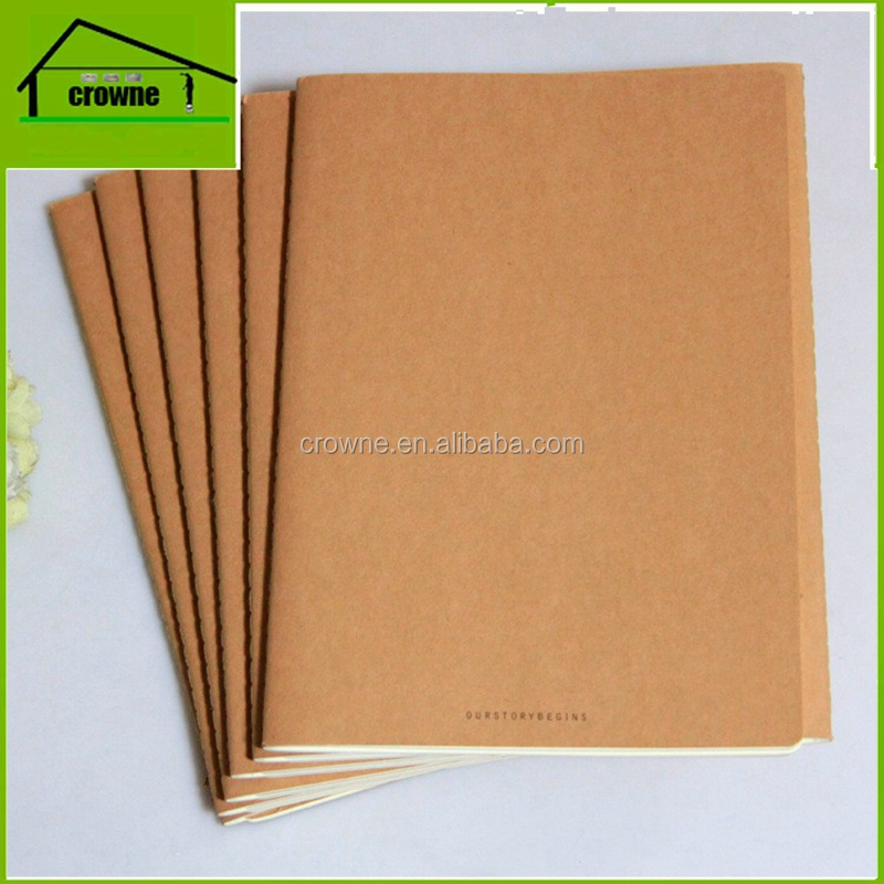 Custom eco notebook 120 sheets kraft paper notebook agenda / Planner / Index / Office /back to School