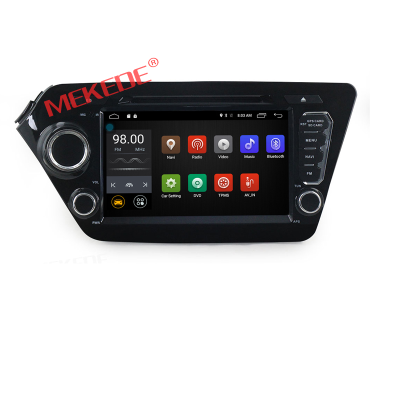 Android 7.1 Two Din 8 Inch Car DVD Player For K2 (2011-2012,RIO 2011-2012) QUAD Core 2G RAM 16G ROM 3G/4G WIFI Radio GPS Navigat
