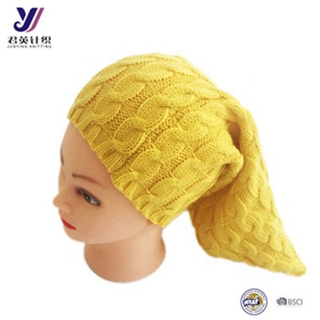 High quality custom manufacturer winter wool felt wholesale knitted ski  turban hat e13759f0621
