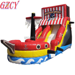 Giant inflatable pirate boat bouncer,kids pirate ship playground for sale
