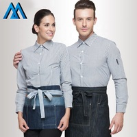 Fast Food Uniform Cotton Uniforms For Waiters Waitress Corporate Polo Shirt