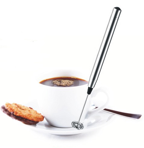 Coffee Mixer Pen Stainless Steel Battery Operated Milk Frother & Coffee Mixer