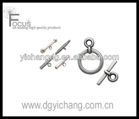 Small Round Toggle Clasp Silver-plated Metal Findings