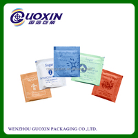 2015 hot sale plastic foil coffee and sugar sachet packaing bag