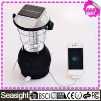 Solar led lantern light with hand crank, 36 LED solar led camping lantern