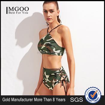 Camouflage halther bikini
