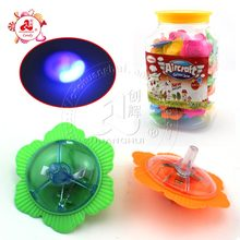 LED Gyro spinning top Toy in jar