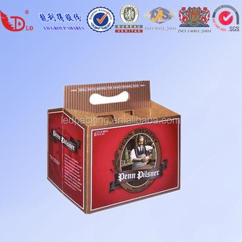 fd67e828f552 Impresión personalizada de paquete de seis de cerveza de botella de cerveza caja  de envío